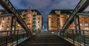 La ville de Munich la nuit